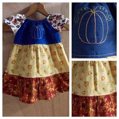Fall Infant Peasant Dress, size 12 months by SewMeems on Etsy