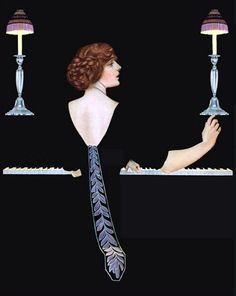 Coles Phillips - Painting From Good Housekeeping Magazine cover (October 1912) Fadeaway girl