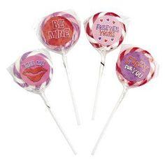 Valentine Swirl Pops With Stickers - Valentine's Day & Valentine's Day Candy
