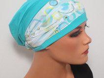 BEANIE/MÜTZE m.Bandana ideal nach Chemo Alopezie