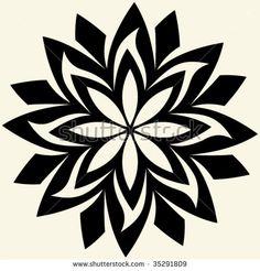 Similar Images, Stock Photos & Vectors of abstract vector flower - Stencils, Stencil Decor, Stencil Designs, Geometric Mandala Tattoo, Mandala Art, Silouette Cameo Projects, Stencil Printing, Wood Burning Patterns, Cartoon Girl Drawing