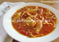 The Country Cook: Lasagna Soup