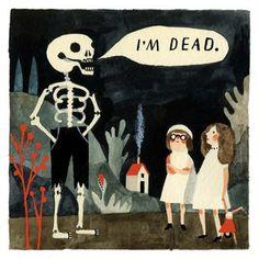 Carson Ellis : The Infinite Corpse --Halloween comic --decor?