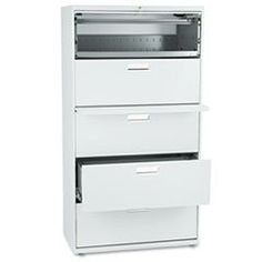 * 600 Series Five-Drawer Lateral File,36w x19-1/4d, Light Gray by MotivationUSA. $1071.43. * Counterweight included, where applicable, to meet ANSI/BIFMA stability requirements. Lock secures both sides of drawer and heavy-duty, three-part, telescoping, steel ball bearing suspension offers smooth drawer operation. Mechanical interlock allows only one drawer to be open at a time to inhibit tipping. Four adjustable leveling glides help compensate for uneven flooring. Drawers include...