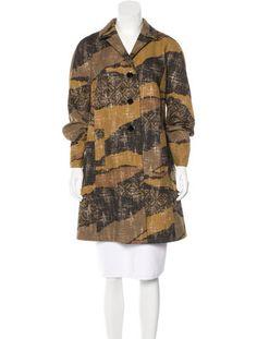 Etro Brocade Wool Coat
