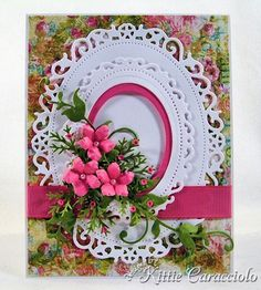 KC Spellbinder Floral Oval 1 center Directions on page. Uses two of the floral ovals from spellbinders.