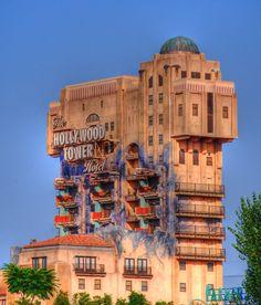 Hollywood Tower of Terror Hotel in Disneyland, California