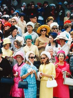 Racegoers at Randwick Racecourse on Cup Day in 1965