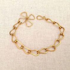 Teardrop Link Handmade Bracelet Chain DIY with free jewelry making tutorial at Lisa Yang's Jewelry Blog