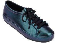 Melissa Be Shine (Iridescent Blue) Melissa Shoes, Estilo Rock, Cute Shoes, All Black Sneakers, Asos, Footwear, Female, Kicks, Clothes
