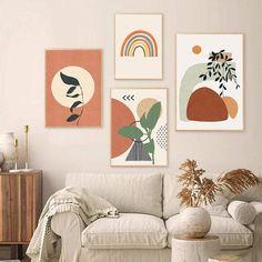 Cactus Wall Art, Leaf Wall Art, Abstract Wall Art, Wall Art Decor, Room Decor, Wall Art Boho, Modern Abstract Art, Art Deco Wall Art, Geometric Painting