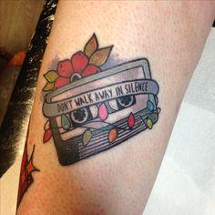 Stranger things / joy division (atmosphere) cassette tattoo
