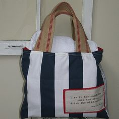 loving this nautical bag from sweet tea & linen