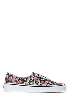 Vans Authentic Slim Sneaker - Black Floral