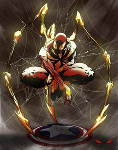 Red&Gold Spiderman, Cristian Roman on ArtStation at https://www.artstation.com/artwork/n42X1