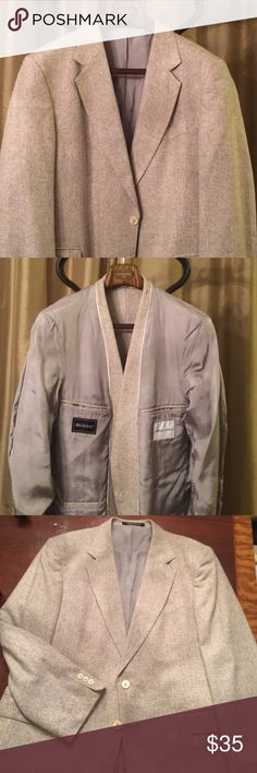 Silky Smooth Savage Summer Blazer Today's Man 100% silk blazer. 43R. Creme/off-white color. Full gray lining in great shape. Faux Pearl buttons 2 in front and 3 per sleeve. Single vented in rear. Notch lapels. A beautiful jacket in a classic summer color. I could see this going well with slacks, jeans, and especially a nice pair of shorts with boat shoes. Lightweight silk makes it even better. Thanks for lookin! Today's Man Suits & Blazers Sport Coats & Blazers