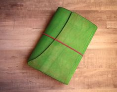Leather Travelers Notebook Green Leather Travel Journal