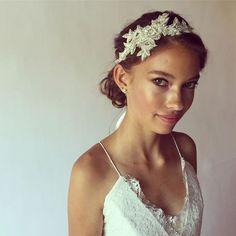 Top 20 Bridal Headpieces of 2016 — the bohemian wedding Boho Wedding Hair, Headpiece Wedding, Bridal Headpieces, Hair Flow, Wedding Hair Inspiration, Hair Pieces, Bridal Jewelry, Wedding Hairstyles, Glamour