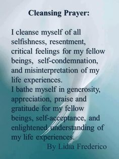 cleansing prayer by lidia frederico The Words, Was Ist Reiki, Smudging Prayer, Sage Smudging, Spiritual Cleansing, Sage Cleansing Prayer, Soul Cleansing, Spiritual Bath, Spiritual Prayers