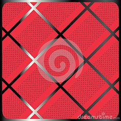 Crossing diagonal stripes geometric pattern. Abstract red background. Print in a cage with polka dot. Digital Illustration. For Art, web, print, wallpaper, greeting card, textile, fashion, fabric, texture, Home decor and more graphic design.
