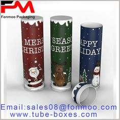 Christmas gift boxes are packaged and sold in the form of printed tubes. Creative product packaging is beneficial to brand promotion. Gift Box Packaging, Product Packaging, Custom Packaging, Packaging Design, Round Gift Boxes, Gift Boxes With Lids, Box With Lid, Gift Wraping, Box Manufacturers