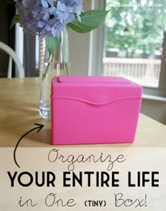 How to Organize Your Entire Life in One Tiny Box // My Grandest Adventure