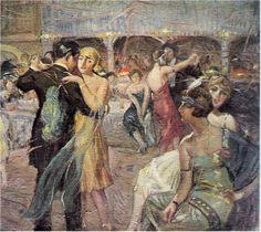 Ibrahim Calli - Ball, 1930 +++++++++++++++++++ https://es.pinterest.com/resatsirac/turkish-painting/
