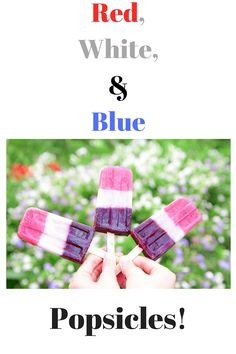Red, White, and Blue Popsicles! Refreshing, #dairyfree, #paleo and #healthy!