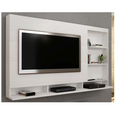 Creative Simple TV Wall Decor Idea for Living Room Design - If you just can& stand taking a look at your TV locate a way to hide it! If you simply can& - Tv Unit Decor, Tv Wall Decor, Tv Cabinet Design, Tv Wall Design, Living Room Tv Cabinet, Living Room Decor, Deco Tv, Tv Wanddekor, Tv Unit Furniture