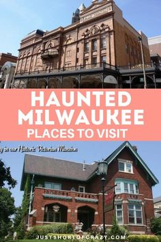 Travel tips to find haunted locations in Milwaukee, WI. I'll share the places to visit for a ghostly, supernatural experience. Take a road trip through Wisconsin and use my city guide to find the haunted locations. Plan your trip on Halloween if you dare! - Just Short of Crazy    #milwaukee #wisconsin #hauntedplaces #travelguide #haunteddestinations #roadtrip