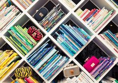 love this unique take on book storage