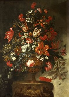 Flower Piece. Artist: Bartolomeo Bimbi Red Lodge, Royal Party, Simply Red, Museum Collection, 16th Century, Victorian, History, Artist, Flowers