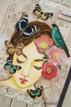 Mixed Media Canvas, Mixed Media Art, Feminine Mystique, Textiles, Fabric Art, Art Blog, Art Projects, Original Art, Art Pieces