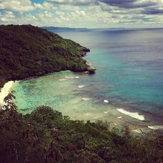 Look out over Haputo Beach in Guam!
