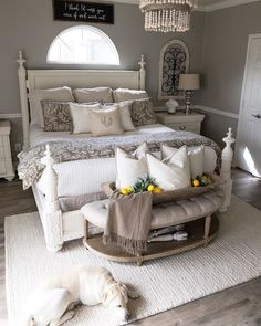 Most Beautiful Rustic Bedroom Design Ideas. You couldn't decide which one to choose between rustic bedroom designs? Are you looking for a stylish rustic bedroom design. We have put together the best rustic bedroom designs for you. Find your dream bedroom. Shabby Chic Master Bedroom, Peaceful Bedroom, Bedding Master Bedroom, Farmhouse Master Bedroom, Master Bedroom Makeover, Master Bedroom Design, Home Bedroom, Guest Bedrooms, Bedroom Designs