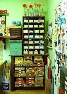 Cigar box storage.