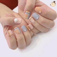 ideas for nails design matte simple Korean Nail Art, Korean Nails, Minimalist Nails, Nail Swag, Stylish Nails, Trendy Nails, Short Nail Designs, Nail Art Designs, Nails Design