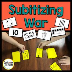 Subitizing War, www.JustTeachy.com