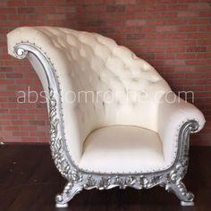 Oversized Chair And Ottoman Luxury Sofa, Luxury Furniture, Cool Furniture, Furniture Design, Office Furniture, Victorian Chair, Victorian Furniture, Antique Furniture, Silver Sofa