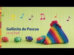 Gallina de Pascua Arcoíris tejida a crochet (en diagramas!) Stop motion crochet :) - YouTube