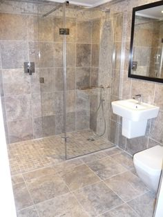 Trendy Bathroom Shower Tile Walk In Wet Rooms Ideas Small Wet Room, Small Shower Room, Wet Room Shower, Small Showers, Walk In Shower, Master Shower, Wet Room Bathroom, Bathroom Interior, Bath Room