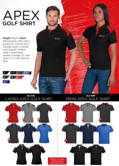 Supplier of Branded Corporate Gifts, Uniforms, Safety Wear & Packaging Promo Gifts, Corporate Gifts, Golf Shirts, Charcoal, Contrast, Capri Pants, Branding, Orange, Button