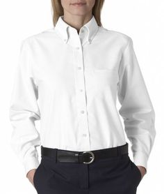 UltraClub Women's Classic Wrinkle-Free Long-Sleeve Oxford. 8990 UltraClub. $26.00