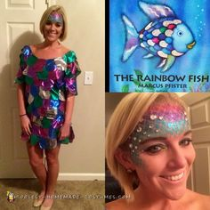 Rainbow Fish Gives a Precious Scale to Small Fish coloring page . - Fish Gives a Precious Scale to Small Fish coloring page .Rainbow Fish No-Sew CostumeRainbow Fish CostumeMooiste vis van Book Costumes, World Book Day Costumes, Book Week Costume, Diy Costumes, Costume Ideas, Children Costumes, Rainbow Fish Costume, Rainbow Fish Book, Fish Costume Kids