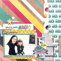 scrapbook page with American Crafts Glitter Girl collection by Shimelle Laine