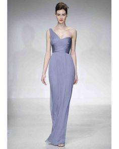 Bridesmaid Dresses with One-Shoulder Necklines | Martha Stewart Weddings