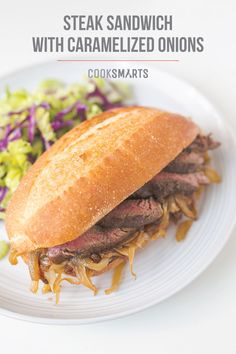 Skirt Steak Sandwich with Caramelized Onions | Weeknight Meal #recipe ...