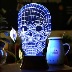 3D LED Illuminated Skull Lamp
