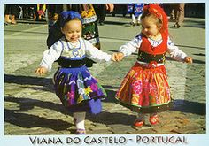 Portugal    Girls in Traditional Costume of Viana, Portugal