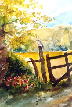 Art:watercolour: the bird's spring song...